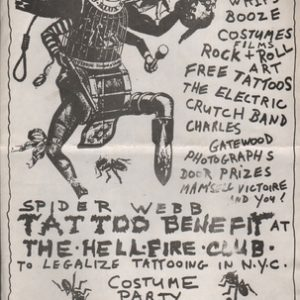 Spider Webb Tattoo Benefit.