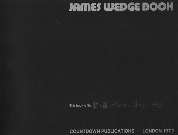 WEDGE, James. James Wedge Book.
