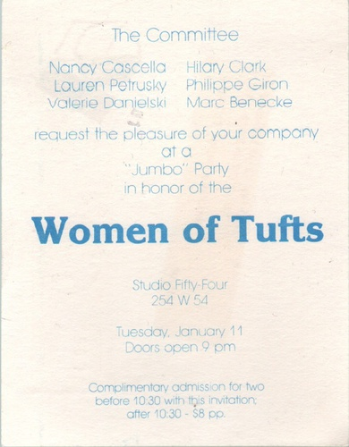 The Committee Women of Tufts.