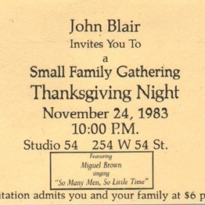 BLAIR, John. Small Family Gathering.