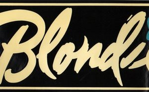 Blondie Bumper Sticker.