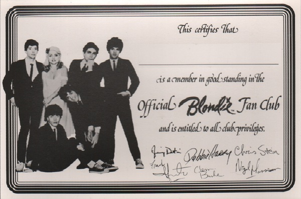 Blondie. Blondie Fan Club.