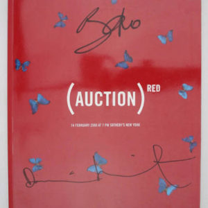 HIRST, Damien and Bono. (Auction) Red.