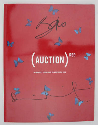 HIRST, Damien and Bono.(Auction) Red.