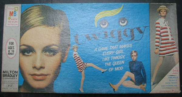 TWIGGY -- A Game That Makes Every Girl, Like Twiggy, The Queen of Mod.