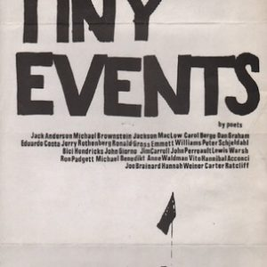 WEINER, Hannah.Tiny Events by Poets.