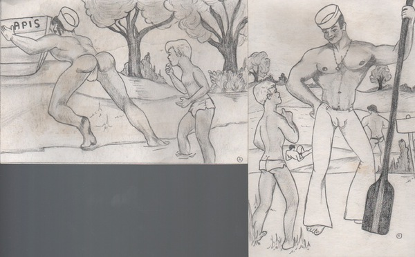 BROWN, Tommy. Drawings and Sketches of Male Nudes.
