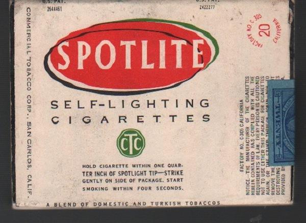 WITT, Frank.Spotlite: Self-Lighting Cigarettes.