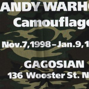 WARHOL, Andy. Camouflage.
