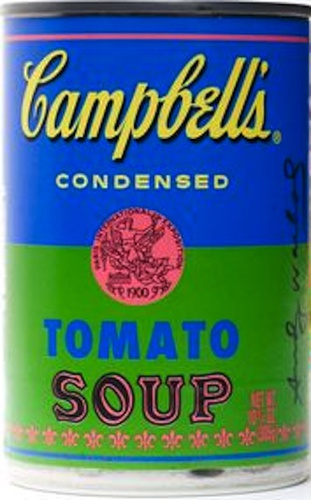 (WARHOL, Andy). Campbells Condensed Tomato Soup.