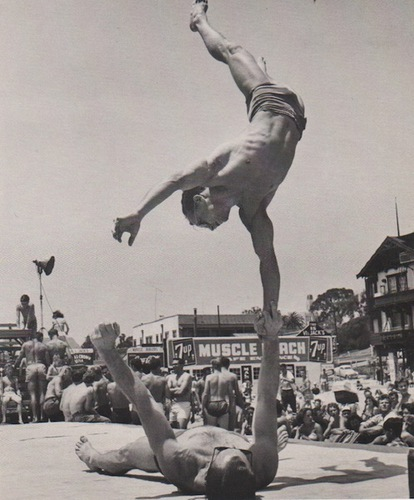 SILVER, Larry. Muscle beach, California 1954.