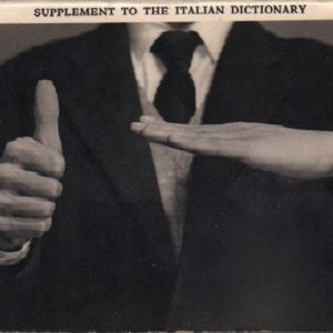 MUNARI, Bruno. Supplement to the Italian Dictionary / Supplemento Al Dizionario Italiano.
