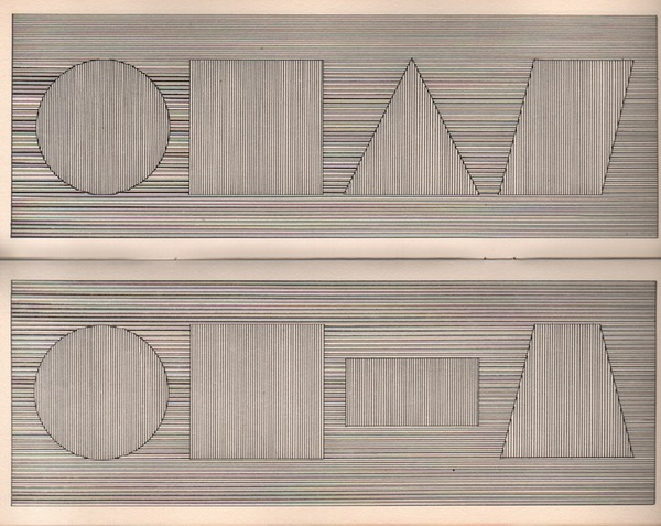 LeWITT, Sol.All Four Part Combinations of Six Geometric Figures.