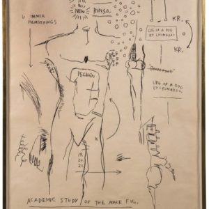 BASQUIAT, Jean-Michel. Academic Study of the Male Figure.