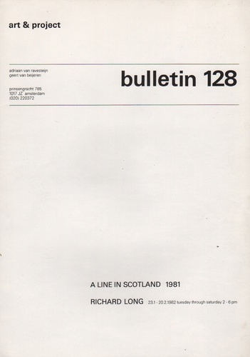 LONG, Richard. Bulletin 128: A Line in Scotland 1981.