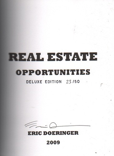 DOERINGER, Eric. Real Estate Opportunites