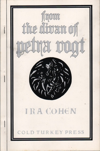 COHEN, Ira.from the library of Petra Vogt.