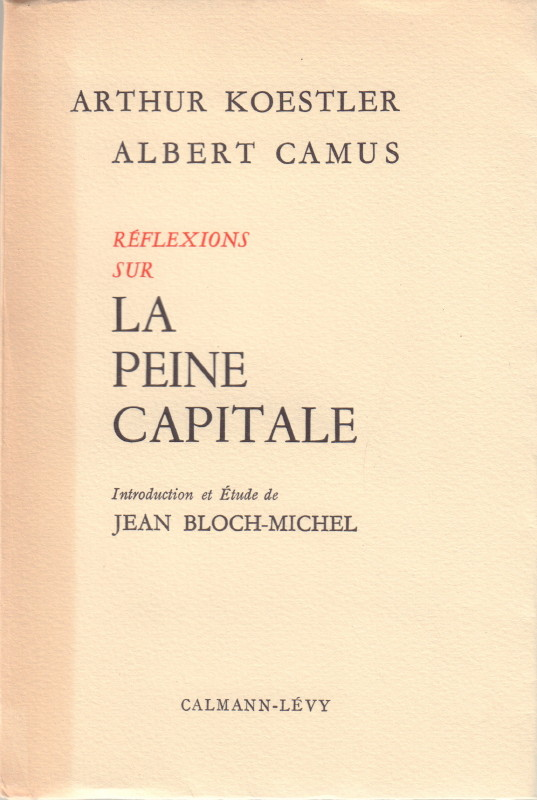 "reflections on the guillotine an essay on capital punishment Review in his essay against the death penalty, albert camus likens capital punishment to ""a crude surgery practiced under conditions that leave nothing edifying."